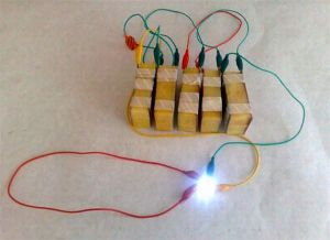 baterai berbahan kentang